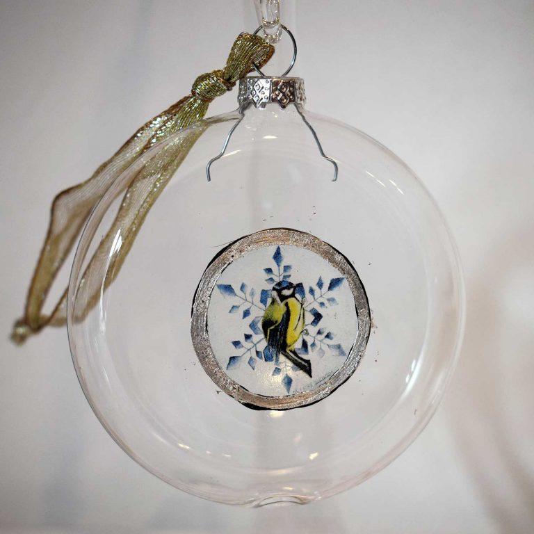 Palla vetro decorata